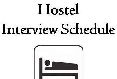 Intermediate Hostel Interview Schedule