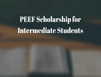 PEEF Scholarship for Intermediate Students