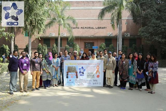 IGO organizes a walk on International Self-Harm Day