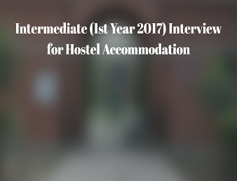 Intermediate (1st Year 2017) Hostel Accommodation Merit List