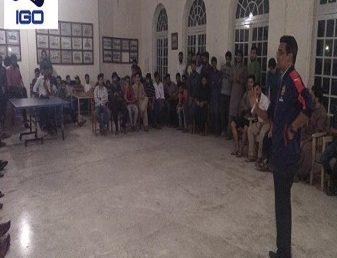IGO delivers a Motivational Talk at Newton Hall
