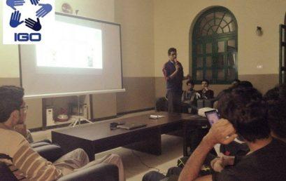 IGO delivers a Motivational Talk at Griswold Hall