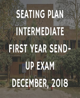 Seating Plan Intermediate First Year Send-Up Exam December, 2018