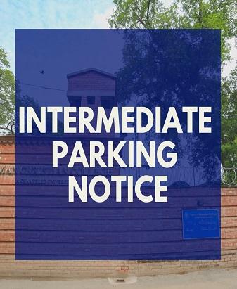 Intermediate Parking Notice
