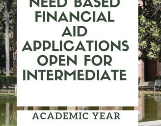 Merit and Need-Based Financial Aid Applications Open for Intermediate: 2018-19