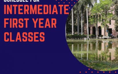 Schedule for Intermediate First Year Classes