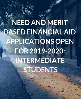 Need and Merit Based Financial Aid Applications Open for 2019-2020: Intermediate Students
