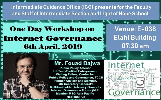 IGO to Organize a Workshop on Internet Governance for Faculty of Intermediate and Light of Hope School