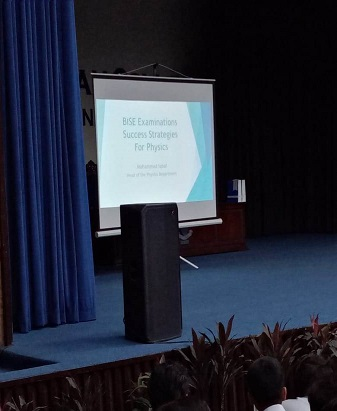 CGO Organizes Sessions on BISE Exam Success Strategies for Physics and Mathematics