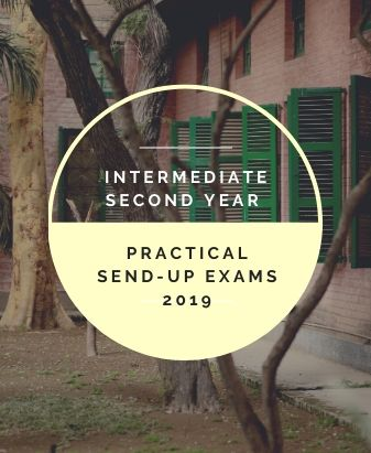 Intermediate 2nd Year Practical Send-Up Exams Date Sheet 2019