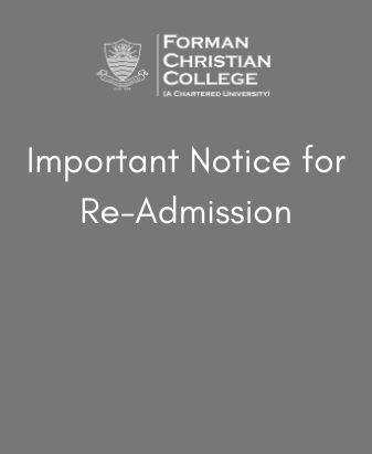 Notice for Re-Admission