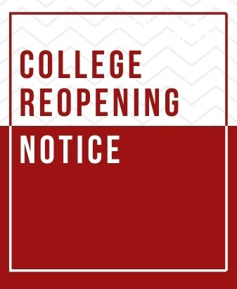 Notice for College Reopening
