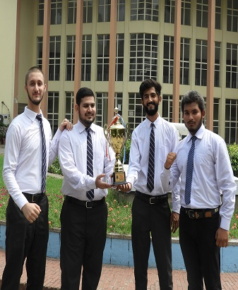 Velte Hall's Basketball team Wins the Championship Trophy 2020